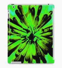 Green + Black Painted Flower iPad Case/Skin