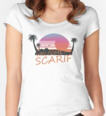 Welcome To Scarif Women's Fitted Scoop T-Shirt