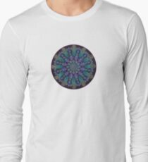 Healing With Angels and Violet Flame Mandala Long Sleeve T-Shirt