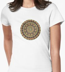 Earth Mandala Women's Fitted T-Shirt