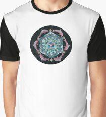 Pink Dolphin Flower of Life Mandala Graphic T-Shirt