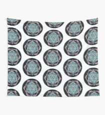 Pink Dolphin Flower of Life Mandala Wall Tapestry