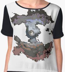 Colored Spiral Moon Women's Chiffon Top