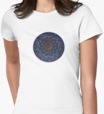 Rainbow Goddess of The Light Mandala Women's Fitted T-Shirt