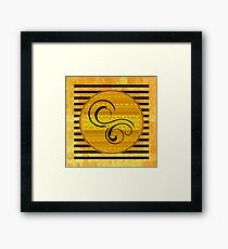 Swirls, Stripes, and Shapes Framed Print
