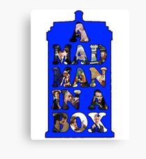 A mad man in a box Canvas Print