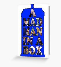 A mad man in a box Greeting Card