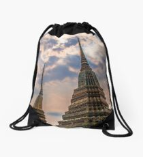 Stupas in Bangkok Drawstring Bag