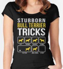 Stubborn Bull Terrier Tricks Women's Fitted Scoop T-Shirt