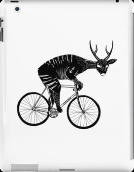 Deer & Bicycle by BlasZergling