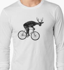 Deer & Bicycle Long Sleeve T-Shirt