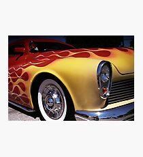 Flamable Chopped Mercury Hot Rod Photo Photographic Print