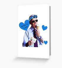 Joe Biden Eating Ice Cream Greeting Card