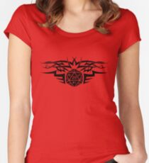 Tribal Dice black Women's Fitted Scoop T-Shirt
