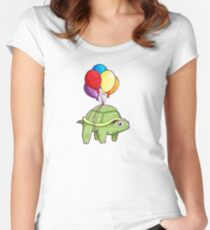 Turtle - Balloon Fun Women's Fitted Scoop T-Shirt