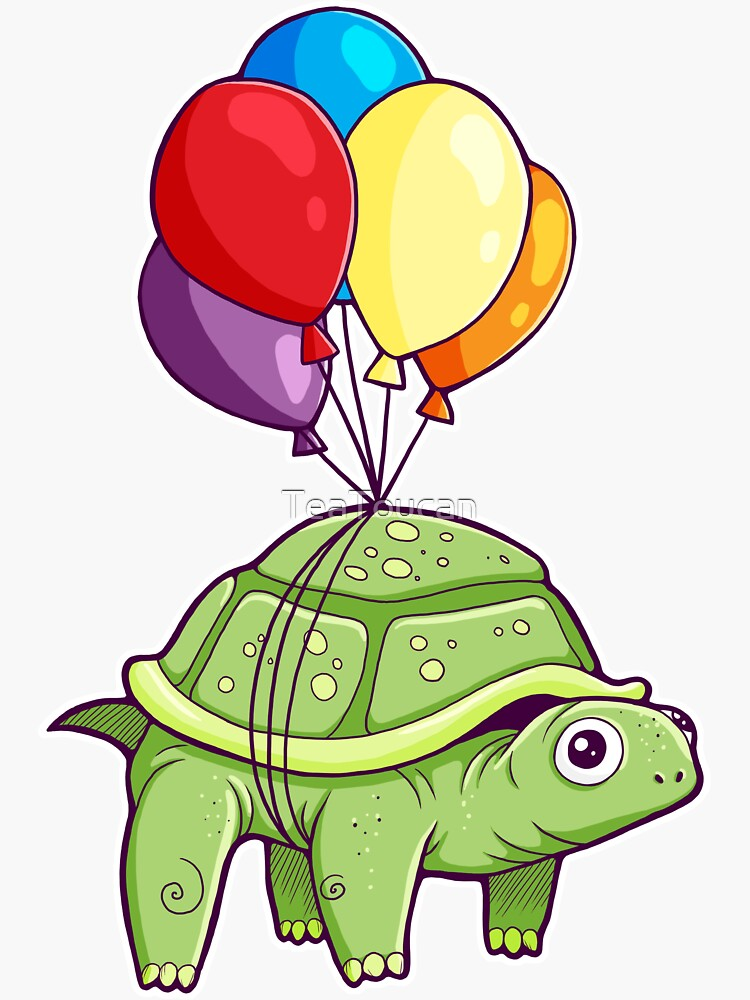 Turtle - Balloon Fun by TeaToucan