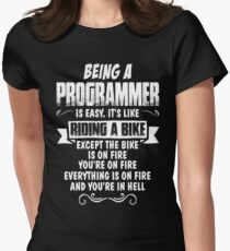 Being A Programmer... Fitted T-Shirt