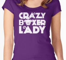 Crazy Boxer Lady Women's Fitted Scoop T-Shirt