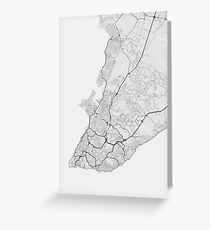 Salvador, Brazil Map. (Black on white) Greeting Card