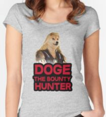 Doge (dog) the bounty hunter Women's Fitted Scoop T-Shirt