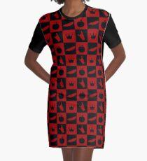 Evil Regal - Feather/Apple/Crown/Hand Graphic T-Shirt Dress