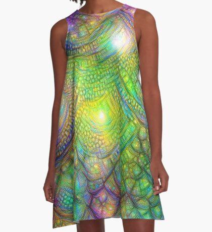 Alien skin #DeepDream A-Line Dress