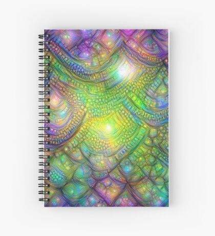 Alien skin #DeepDream Spiral Notebook