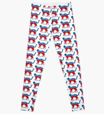 Democrat DemoCAT Hillary Clinton 2016 Leggings