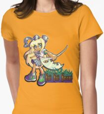Devoured By Japanese Schoolgirls - Beach Blonde Girl Women's Fitted T-Shirt