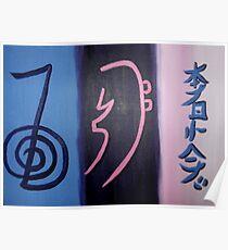'3 Reiki Symbols' Poster