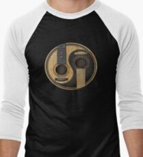 Acoustic Guitars Yin Yang Men's Baseball ¾ T-Shirt