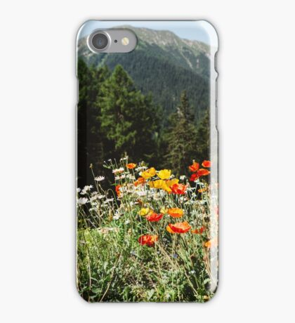 Mountain garden iPhone Case/Skin