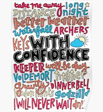 With Confidence collage  Poster