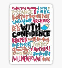 With Confidence collage  Sticker