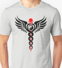 Caduceus - Yin Yang - Winged Serpent - Hermetic Unisex T-Shirt