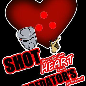 Predator Heart Shot by ChePanArt