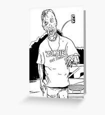 Zombie - Eat Flesh Greeting Card