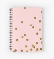 Blush and Gold Spiral Notebook