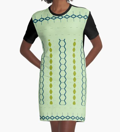 Sharp Green Style Graphic T-Shirt Dress