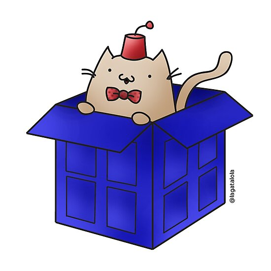 Whovian Cat by lagatalola