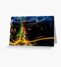 digital abstraction of Christmas tree Greeting Card