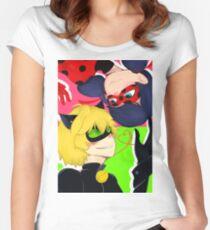 Wunderbarer Marienkäfer Tailliertes Rundhals-Shirt