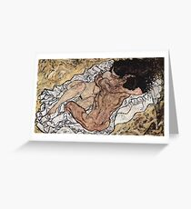 Egon Schiele - The Embrace 1917 Greeting Card