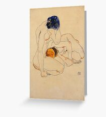 Egon Schiele - Two Friends 1912 Greeting Card