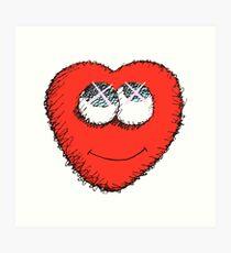 Cute Heart Art Print