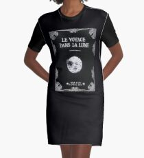 Trip to the Moon Graphic T-Shirt Dress