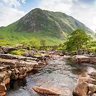 River Etive and Buachaille Mountain, Glen Coe by Petr Svarc
