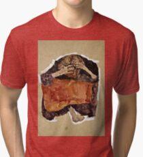 Egon Schiele -Troubled Woman  Tri-blend T-Shirt