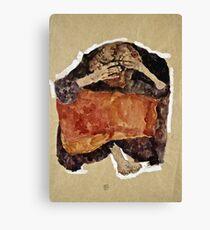 Egon Schiele -Troubled Woman  Canvas Print