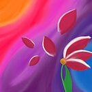 Magenta Petals by Ampandora